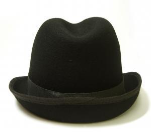 No.5 帽子 中折れハット フェルトウール Mサイズ(頭周り58.5cm)(ブラック)