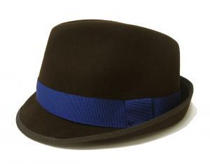 ポールスミス 帽子 中折れハット フェルトウール TRILBY(ダークブラウン)