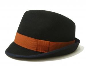 ポールスミス 帽子 中折れハット フェルトウール TRILBY(ダークネイビー)
