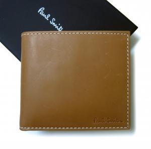 ポールスミス 財布 メンズ 二つ折 (タン/ピンク)