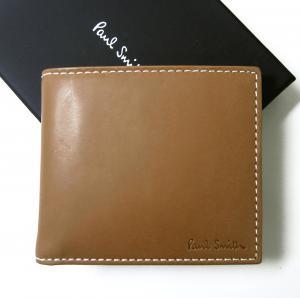 ポールスミス 財布 メンズ 二つ折 (タン/イエロー)