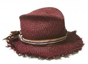 ポールスミス 帽子 ストローハット (パープル)
