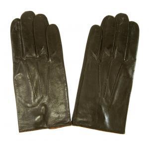 ポールスミス 手袋 メンズ レザーグローブ (ダークブラウン) Lサイズ