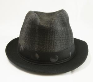 No.2 帽子 中折れ帽 ハット (ブラック)