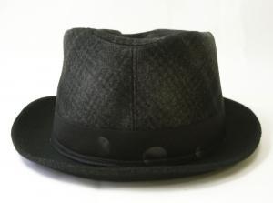 No.3 帽子 中折れ帽 ハット (ブラック)