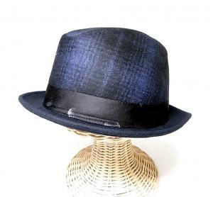 ポールスミス 帽子 中折れ帽 ハット (ブルー)