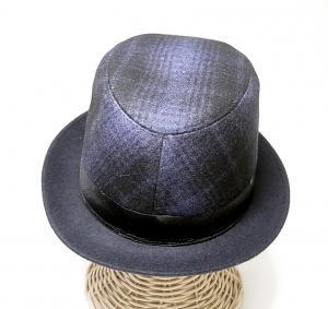No.3 帽子 中折れ帽 ハット (ブルー)