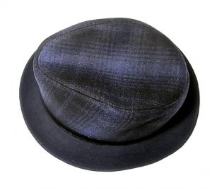 No.4 帽子 中折れ帽 ハット (ブルー)