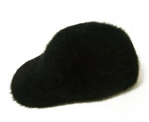 No.2 帽子 キャップ フアー (ブラック) Lサイズ(約60.5cm)