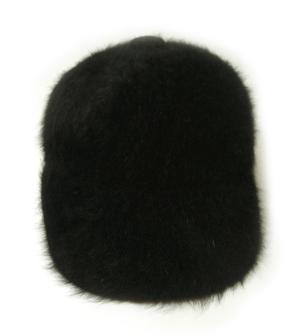 No.3 帽子 キャップ フアー (ブラック) Lサイズ(約60.5cm)