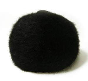 No.5 帽子 キャップ フアー (ブラック) Lサイズ(約60.5cm)