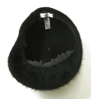 No.6 帽子 キャップ フアー (ブラック) Lサイズ(約60.5cm)