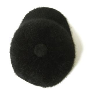 No.8 帽子 キャップ フアー (ブラック) Lサイズ(約60.5cm)