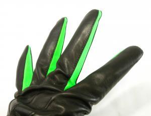 No.4 手袋 メンズ レザーグローブ (ブラック)Lサイズ