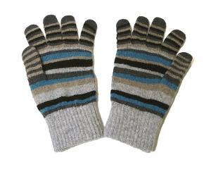 No.4 マフラー 手袋 帽子 セット メンズ ギフト (グレー)