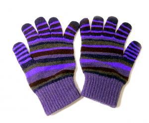 No.4 マフラー 手袋 帽子 セット メンズ ギフト (パープル)