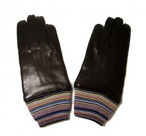 ポールスミス 手袋 メンズ レザーグローブ マルチストライプ Lサイズ