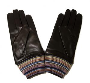 No.2 手袋 メンズ レザーグローブ マルチストライプ Lサイズ