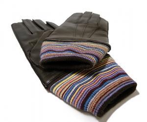 No.3 手袋 メンズ レザーグローブ マルチストライプ Lサイズ