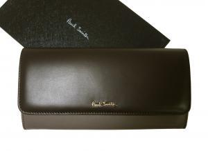 ポールスミス 財布 レディース 二つ折 長財布 (ダークブラウン)