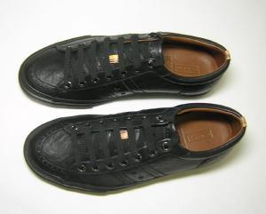 No.2 スニーカー Chino レザー メンズ (ブラック) 8サイズ(日本サイズ約26.5cm)