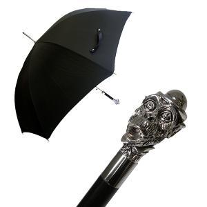 パソッティ メンズ 傘 かさ ブラック 帽子を被ったサル Style 478