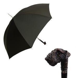 パソッティ 傘 かさ メンズ ダークブラウン シュナウザー ハンドルStyle 478
