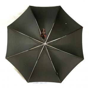 No.5 傘 かさ メンズ ダークブラウン シュナウザー ハンドルStyle 478