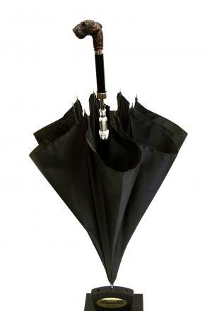 No.6 傘 かさ メンズ ダークブラウン シュナウザー ハンドルStyle 478