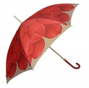 パソッティ 傘 かさ レディース レッド ダリヤ レザーハンドル Style 460