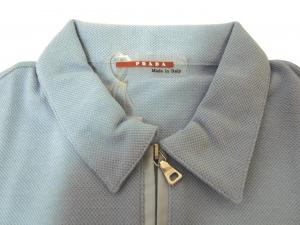 No.3 <アウトレット>ポロシャツ Tシャツ レディース プラダ スポーツ ブルー