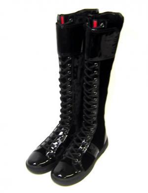 プラダ ロングブーツ 靴 レディス 36.5(日本サイズ約23.5cm)