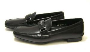 No.3 靴 メンズ レザーシューズ (ブラック)6サイズ(日本サイズ約25cm)