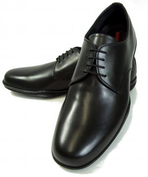 No.7 靴 メンズ レザーシューズ (ブラック)9サイズ