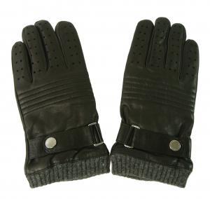 ラルフ ローレン 手袋 メンズ ベルト付きグローブ (ブラック) Sサイズ