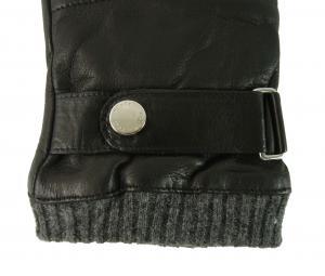 No.3 手袋 メンズ ベルト付きグローブ (ブラック) Sサイズ