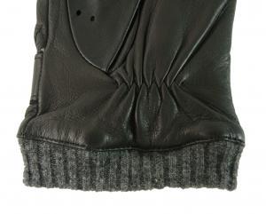 No.4 手袋 メンズ ベルト付きグローブ (ブラック) Sサイズ