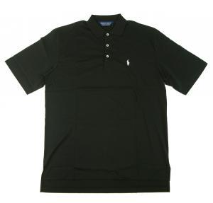 ラルフ ローレン ポロシャツ メンズ コットン ゴルフ用 (ブラック) Lサイズ(日本メーカーのXXL) *大きめサイズ