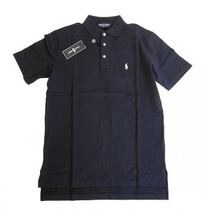 No.2 ポロシャツ コットン ゴルフ用 XLサイズ(ネイビー)