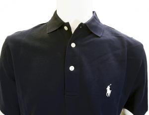 No.3 ポロシャツ コットン ゴルフ用 XLサイズ(ネイビー)