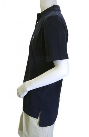 No.4 ポロシャツ コットン ゴルフ用 XLサイズ(ネイビー)