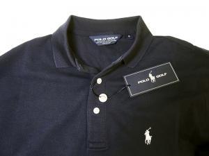 No.6 ポロシャツ コットン ゴルフ用 XLサイズ(ネイビー)