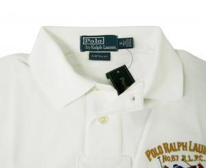 No.3 ポロシャツ ビッグポニー コットン (ホワイト)