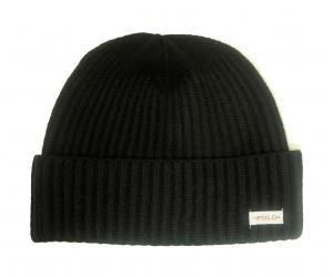ラルフ ローレン ニットキャップ ニット帽 ユニセックス (ブラック)