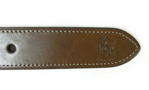 No.6 ベルト メンズ コットンキャンバス 紋章 グリーン 38インチ(95cm)