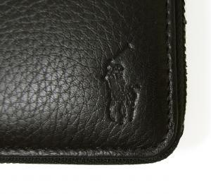 No.5 長財布 ラウンドファスナー (ブラック) *大きめサイズ