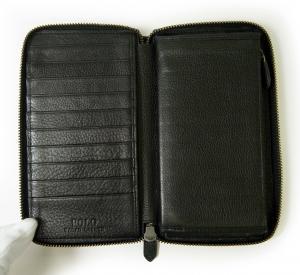 No.6 長財布 ラウンドファスナー (ブラック) *大きめサイズ