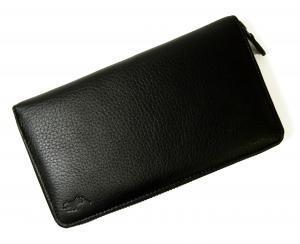 No.9 長財布 ラウンドファスナー (ブラック) *大きめサイズ