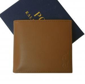 ラルフ ローレン 財布 メンズ 二つ折 (ブラウン)