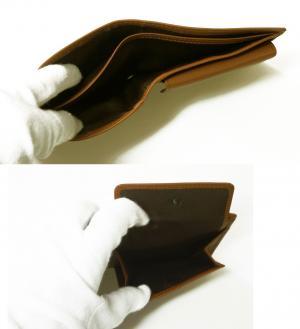 No.5 財布 メンズ 二つ折 (ブラウン)
